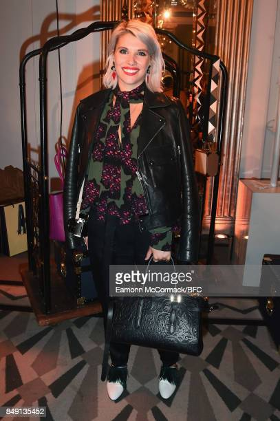Pips Taylor attends the Aspinal of London presentation during London Fashion Week September 2017 on September 18 2017 in London England