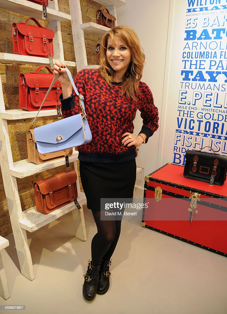 Pips Taylor attends The Cambridge Satchel Company launch of their East London pop up store on December 5, 2013 in London, England.