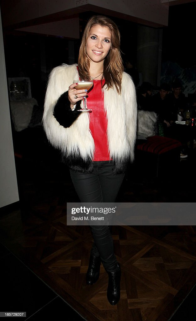 Pips Taylor attends the launch of the W Republic of Verbier takeover at W London - Leicester Square on October 24, 2013 in London, England.