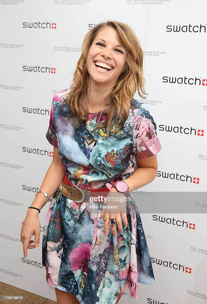 Pips Taylor attends the launch of Urban Expression by Swatch at Blackall Studios on August 14, 2013 in London, England.
