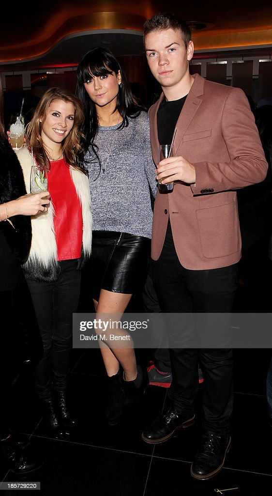 Pips Taylor, Lilah Parsons and Will Poulter attend the launch of the W Republic of Verbier takeover at W London - Leicester Square on October 24, 2013 in London, England.