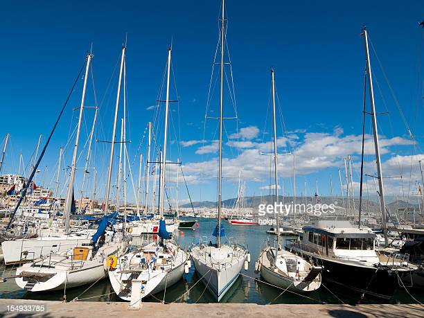 Piraeus Marina Athens Sailing boats in the Harbour