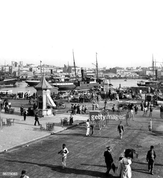Piraeus The embankments of the port About 1900 Stereo LL26541A