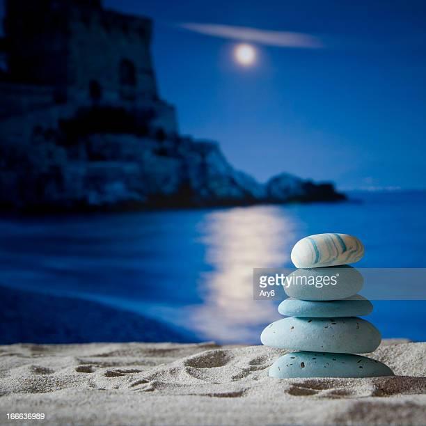Piramid Stone on beach in Amalfi Coast, Italy