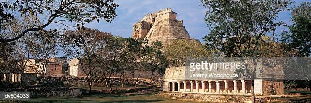 Piramide del Alvino and Juego de Pelota, Uxmal, Yucatan, Mexico
