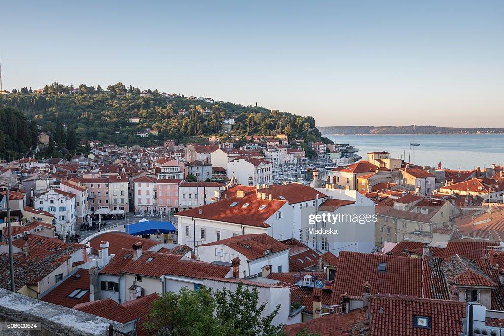 Piran Old Town, Slovenia : Stock Photo