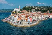 Mediterranean town of Piran on the Slovenian Coast