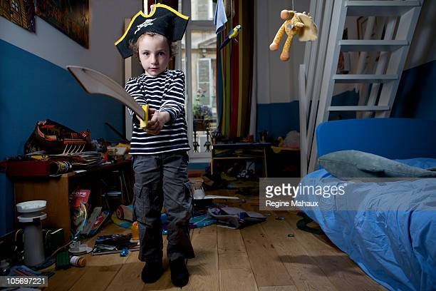 Pirate boy in his bedroom