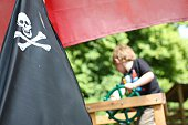 Pirate Flag On Boat