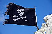 Pirate flag skull and cross bones