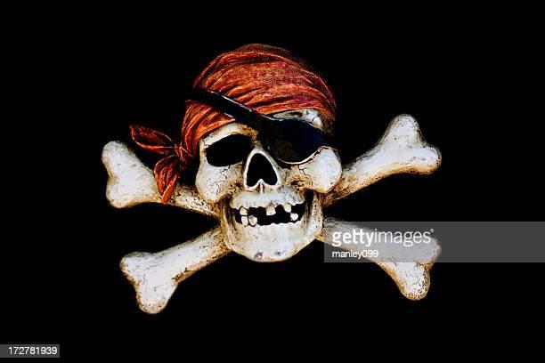 Crâne de pirate crossbone
