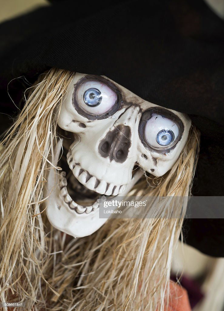 Pirate Skull with Eyes and Straw hair : Stock Photo