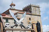 pirate swords with the convent of Vilagarcia de Arousa