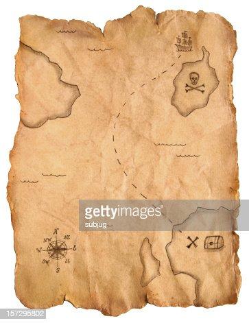 Carte au trésor de Pirate : Photo