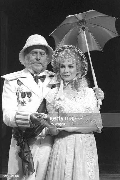 Pirates on parade in London are Pamela Stephenson and George Cole in their costumes as Mabel and the Major General the roles they play in the...