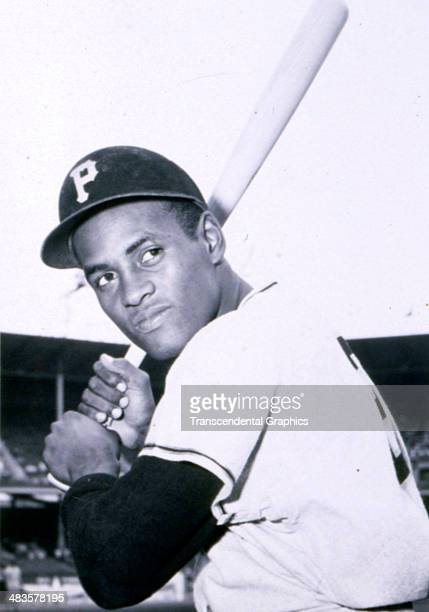 Pirates outfielder Roberto Clemente is photographed in 1960 in Forbes Field in Pittsburgh Pennsylvania