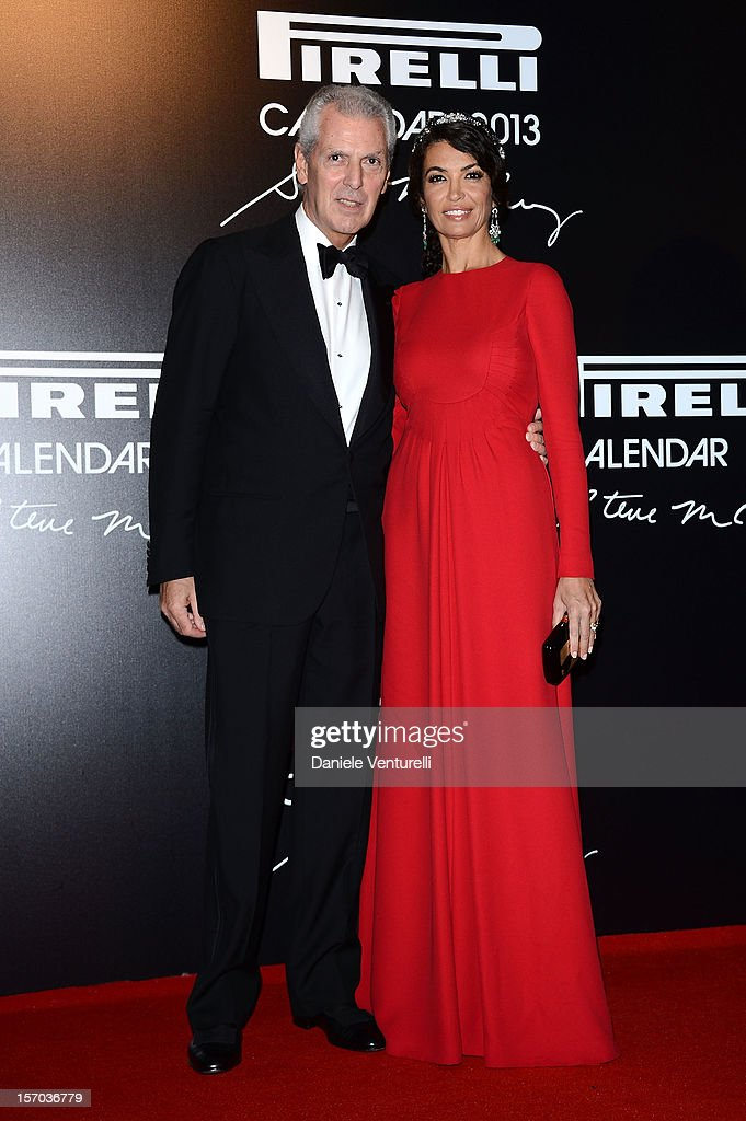 Pirelli & C President Marco Tronchetti and <a gi-track='captionPersonalityLinkClicked' href=/galleries/search?phrase=Afef+Jnifen&family=editorial&specificpeople=612316 ng-click='$event.stopPropagation()'>Afef Jnifen</a> attends the '2013 Pirelli Calendar Unveiling' on November 27, 2012 in Rio de Janeiro, Brazil.