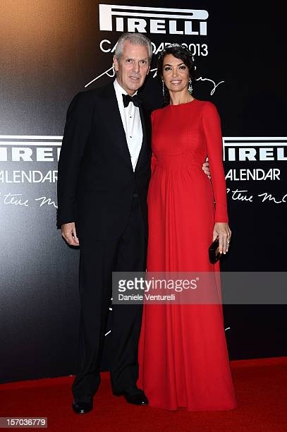 Pirelli C President Marco Tronchetti and Afef Jnifen attends the '2013 Pirelli Calendar Unveiling' on November 27 2012 in Rio de Janeiro Brazil