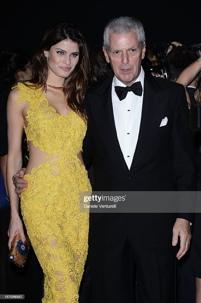 Pirelli & C President Marco Tronchetti Provera and <a gi-track='captionPersonalityLinkClicked' href=/galleries/search?phrase=Isabeli+Fontana&family=editorial&specificpeople=220508 ng-click='$event.stopPropagation()'>Isabeli Fontana</a> attend the '2013 Pirelli Calendar Unveiling' on November 27, 2012 in Rio de Janeiro, Brazil.