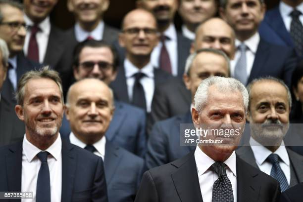 Pirelli's Executive Vice Chairman Marco Tronchetti Provera attends a ceremony to mark the comeback of Italian tire maker Pirelli at Milan's stock on...