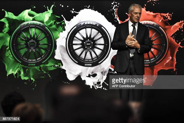 Pirelli's Executive Vice Chairman Marco Tronchetti Provera speaks during a ceremony marking the return of Italian tyremaker Pirelli at Milan's stock...