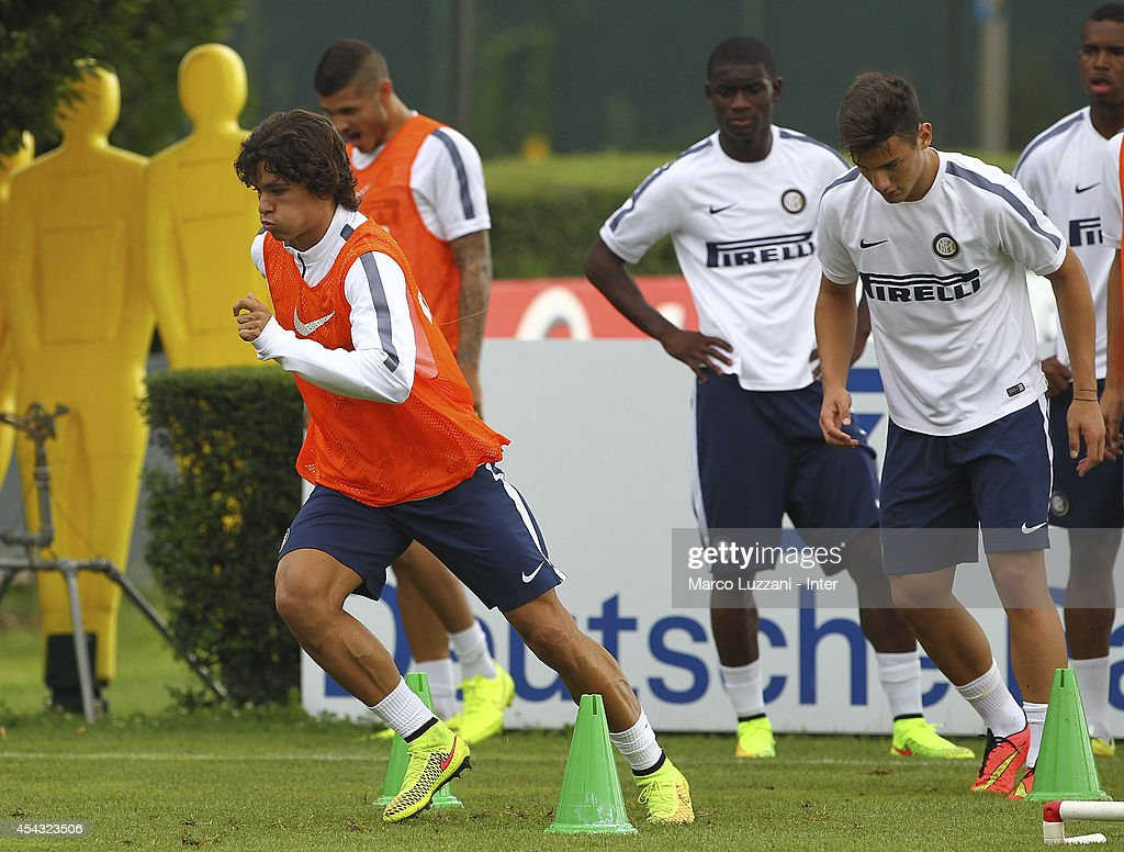 Pires Ribeiro Dodo of FC Internazionale Milano trains during FC Internazionale Training Session at the club's training ground on August 29, 2014 in Appiano Gentile Como, Italy.