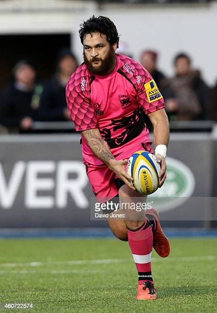 Piri Weepu of London Welsh in action during the Aviva Premiership match between Saracens and London Welsh at Allianz Park on December 20 2014 in...