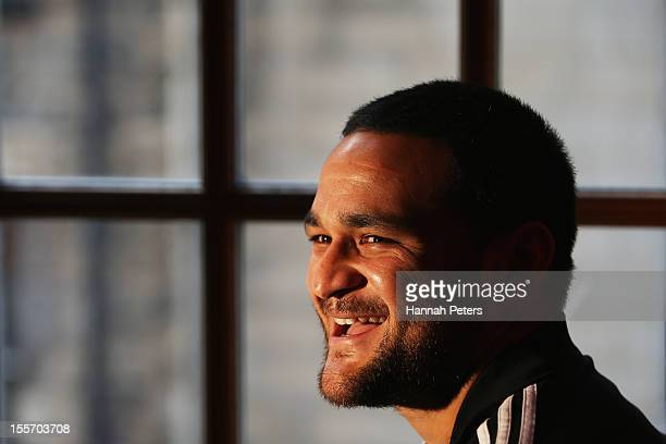 Piri Weepu of the All Blacks poses for a photo following a press conference at the Radisson Blu hotel on November 7 2012 in Edinburgh Scotland