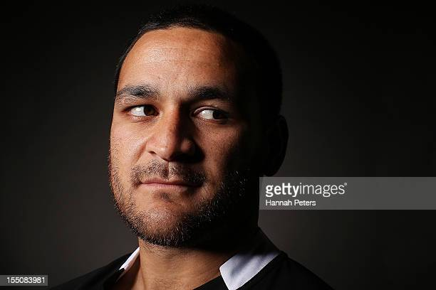 Piri Weepu poses during a New Zealand All Blacks portrait session at the Heritage Hotel on November 1 2012 in Auckland New Zealand