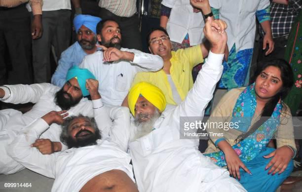 Pirmal Singh who created ruckus in Vidhan Sabha removed by watch and ward staff of Punjab Vidhan Sabha on the order of Speaker Rana KP Singh at...