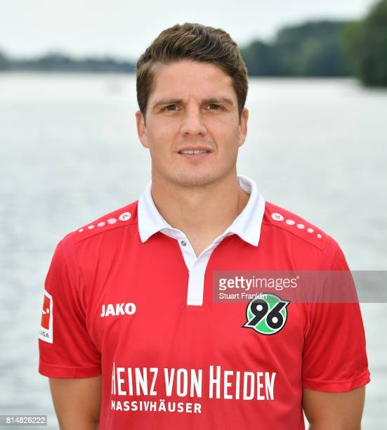 Pirmin Schwegler of Hannover 96 poses during the team presentation at on July 14 2017 in Hanover Germany