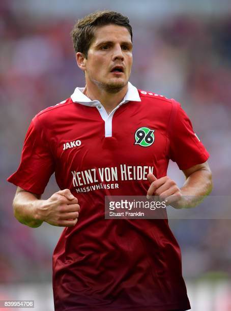 Pirmin Schwegler of Hannover in action during the Bundesliga match between Hannover 96 and FC Schalke 04 at HDIArena on August 27 2017 in Hanover...