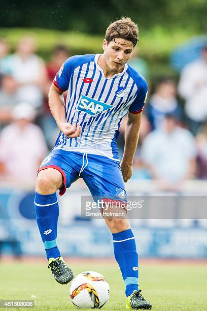Pirmin Schwegler of Hoffenheim controls the ball during the Friendly match between TSG Weinheim and 1899 Hoffenheim at SeppHerbergerStadion on July...