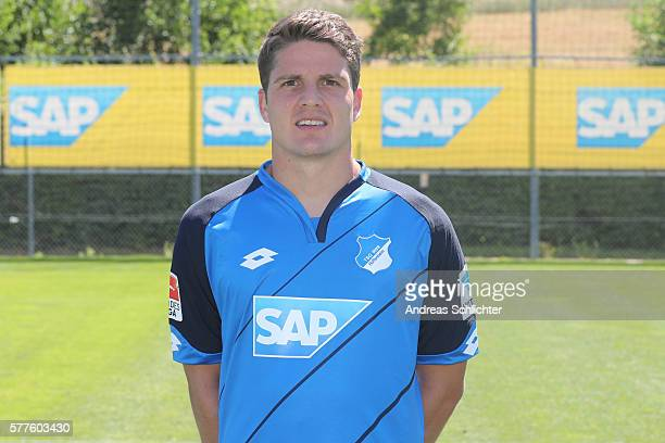 Pirmin Schwegler poses during the offical team presentation of TSG 1899 Hoffenheim on July 19 2016 in Sinsheim Germany