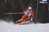 Pirmin Zurbriggen of Switzerland during the International Ski Federation Men's Giant Slalom at the FIS Alpine World Ski Championship on 4 February...