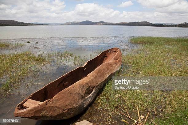 Pirogue in shore of Lake Babati