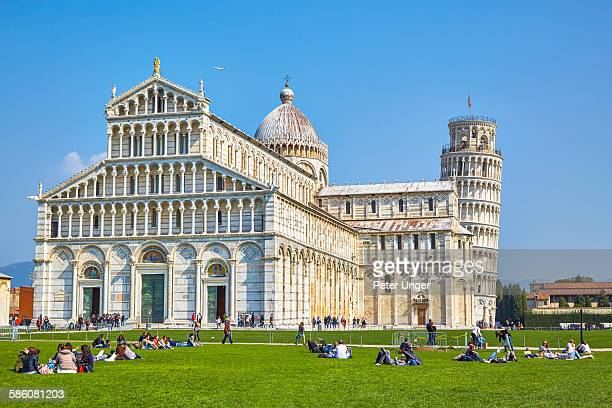 Pisa Cathedral and leaning Tower, Pisa, Italy