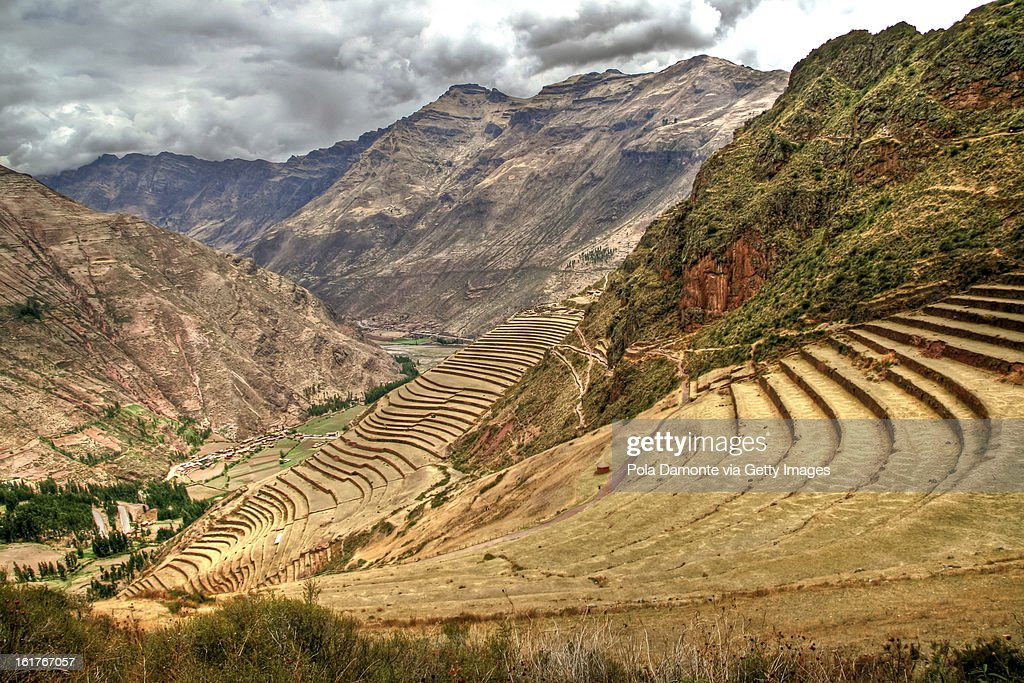 Pisac terraces in Peru