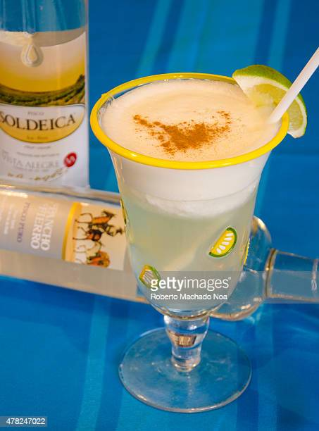 RESTAURANT TORONTO ONTARIO CANADA Pisco Sour a traditional Peruvian Cocktail Cocktail glass filled with Soldeica and Pancho Fierro Pisco Puro This...