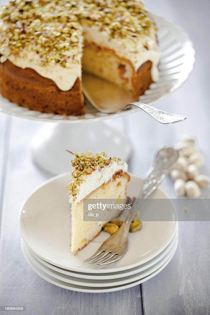 Pistachio cake : Stock Photo