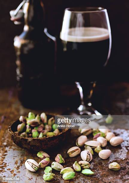 Pistachios and black beer
