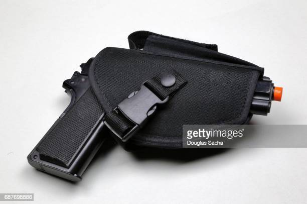 Pistol in a weapon holster