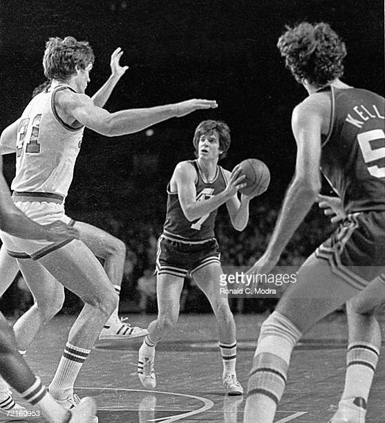 Pistol Pete Maravich of the Utah Jazz in a game against the Milwaukee Bucks in a game in the 1979 in Milwaukee Wisconsin