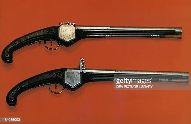 Pistol with hidden wheellock with the Medici coat of arms ca 1645 Italy 17th century Prague Vojensky Historicky Ústav