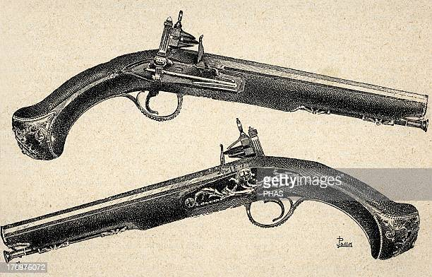 Pistols 18th century Engraving