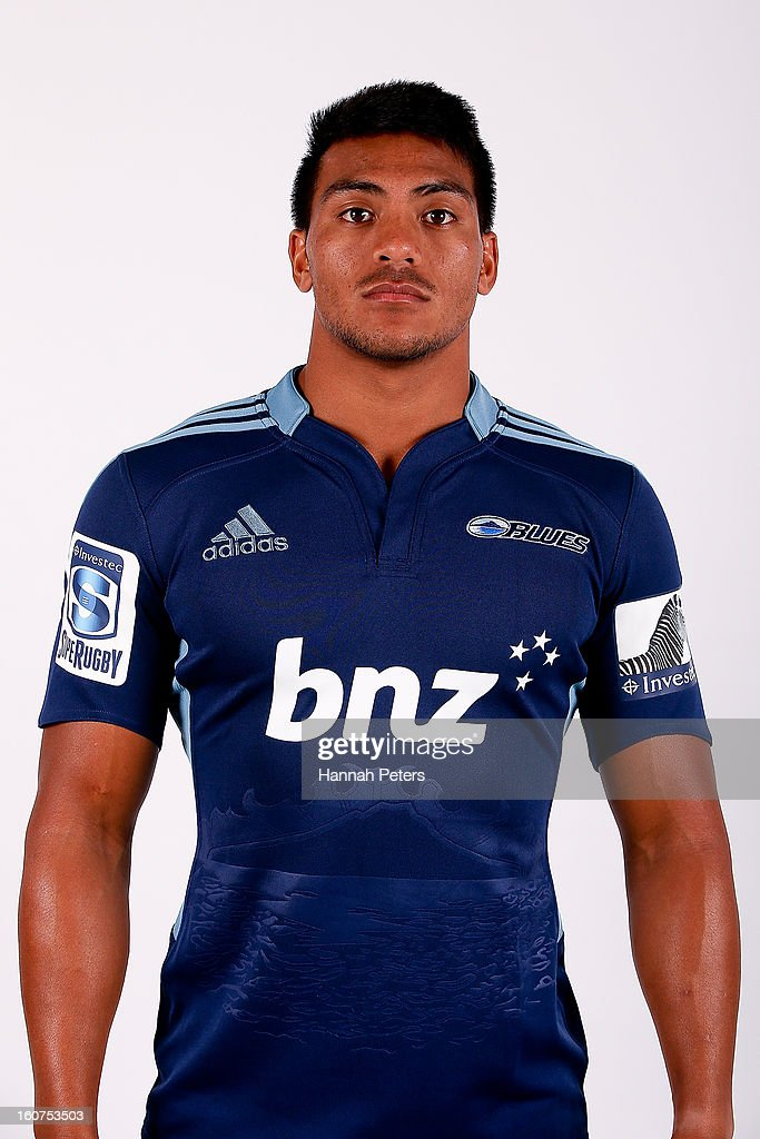 Pita Ahki poses for a portrait during the 2013 Blues headshots session on February 5, 2013 in Auckland, New Zealand.