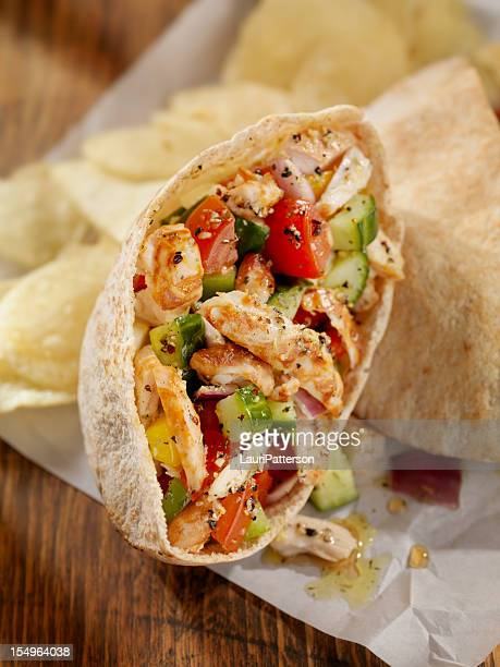 Pita Pockets with Grilled Chicken