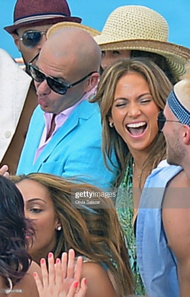 Pitbull and <a gi-track='captionPersonalityLinkClicked' href=/galleries/search?phrase=Jennifer+Lopez&family=editorial&specificpeople=201784 ng-click='$event.stopPropagation()'>Jennifer Lopez</a> attends the <a gi-track='captionPersonalityLinkClicked' href=/galleries/search?phrase=Jennifer+Lopez&family=editorial&specificpeople=201784 ng-click='$event.stopPropagation()'>Jennifer Lopez</a> And Pitbull Video Shoot In Florida on May 5, 2013 in Fort Lauderdale, Florida.