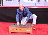 Pitbull Hand And Footprint Ceremony