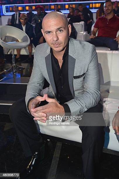 Pitbull attends the Univision's Premios Juventud 2015 at Bank United Center on July 16 2015 in Miami Florida